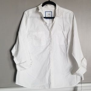 NWT! White button down shirt